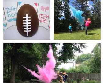 Ships next day! Football One Empty Gender Reveal Football With Two Colors Of Powder Gender Reveal Ideas