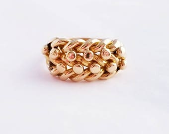 18k yellow gold antique keeper ring