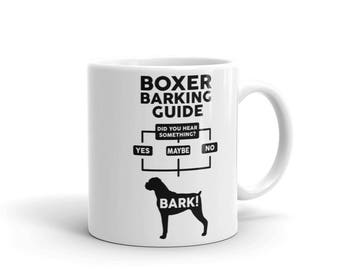Boxer Barking Guide Mug - Funny Cute Boxer Gift - Dog Lover - Coffee Mug
