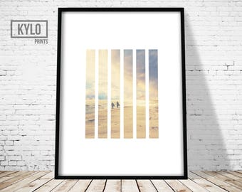 Beach Sunset Print, Minimalist Design Art Print, Beach Print, Modern Photography Print, Beach Sunset Art, Nature Abstract Art, Nature Print