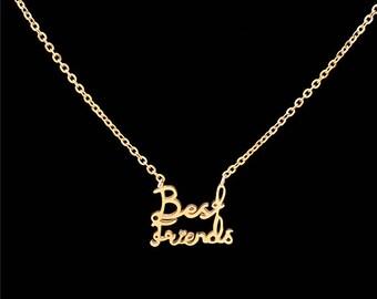 Delicate Golden Best Friends Necklace