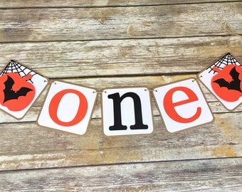 Pumpkin One Banner, Halloween Highchair Banner, Halloween Birthday, First Birthday, Photo Prop