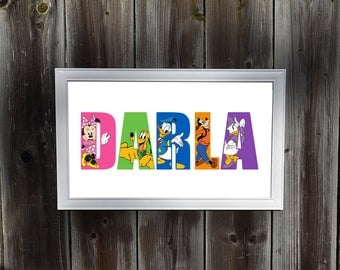 Personalized Mickey Mouse Wall Art