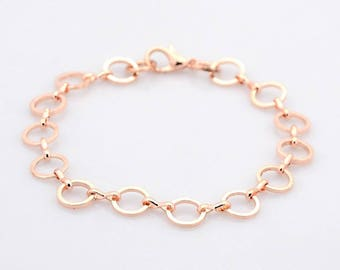 Rose gold link rings