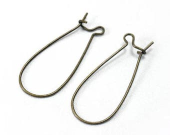 20 pairs of earrings bronze - 79202