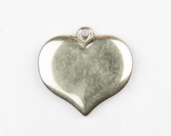 2 pendants heart stainless steel - 83209