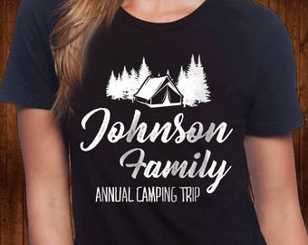 Custom Family Camping Shirt - Personalized Camping Shirt - Camping tee - Adventure shirt - Happy Camper Shirt - Vacation Shirt