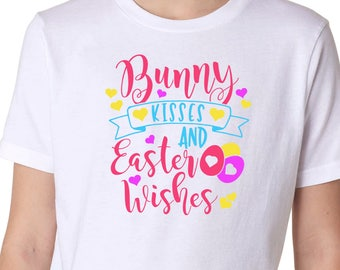 Bunny Kisses & Easter Wishes Youth Tee