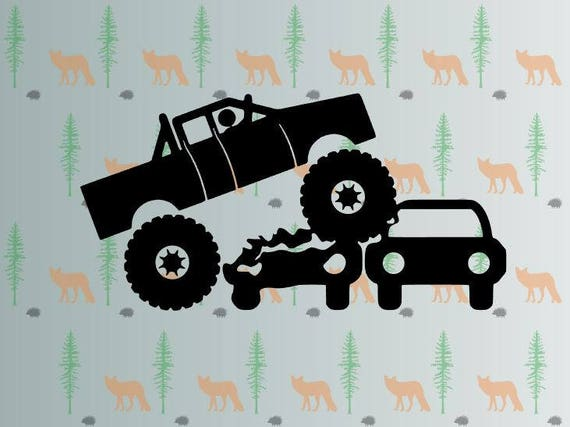 Monster Truck Svg Monstertrucks Svg Files For Cricut