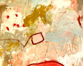 Original Abstract Painting on paper, home decor, art