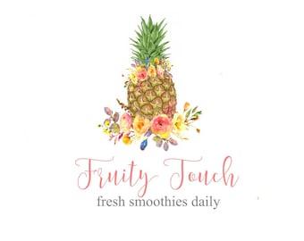 Pineapple Logo, Pine Apple Logo, Tropical Logo, Hawaiian Logo, Hawaii Logo, Fruit Logo, Pineapple Design, Logo Design, Retire It, Logo PNG