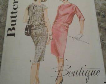 Vintage Butterick Boutique 2934; ca. 1960s; Misses' Two piece Dress:  Size 12 Bust 32