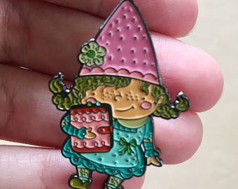 Planner Girl Gnaomi the Gnome, Enamel Pin, Plantasia Friends, Planner Girl Pin, Plantasia Pin