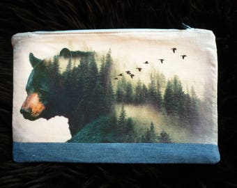 Zip pouch, Cosmetic bag, Pencil case, Accessory pouch, Purse