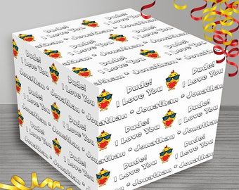 Personalized Bird Love Wrapping Paper