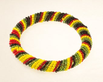 African Colors Beaded Bracelet