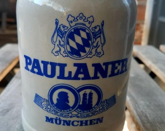 Paulaner Munchen German Beer Stein, Beer Steins, Paulaner Munchen, Vintage Steins, German Beer Steins