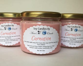 Carnation 12oz Soy Wax Candle