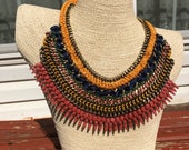 Cleopatra Necklace / Statement Necklace / Egyptian Necklace / Bib Necklace / Chunky Necklace / Egyptian Collar Necklace / Runway Necklace