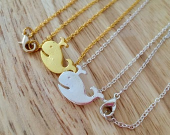 Whale Necklace, Silver Whale Charm, Gold Whale Charm, Cute Whale Charm, Ocean Jewelry, Beach Necklace, Nautical Necklace, Whale Pendant
