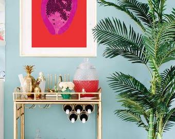 Pink Papaya Print