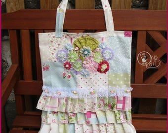 tote bag - Tote all cotton/lace