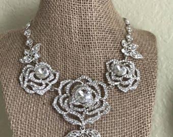 Diamond Rose Necklace