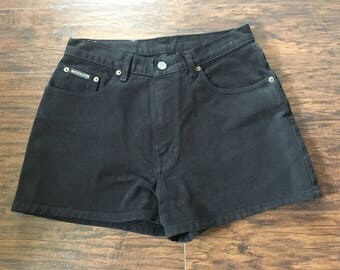 Vintage 90s High Waisted Black Calvin Klein Shorts mom jeans Sz 7