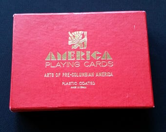 America Playing Cards-Arts of Pre-Columbian America-Made in Spain-1960