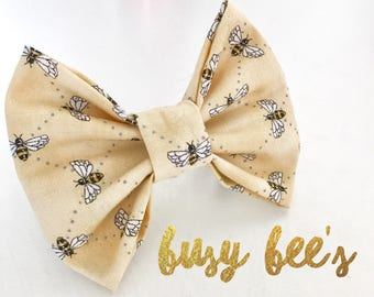 Busy Bee's Dog Bow Tie