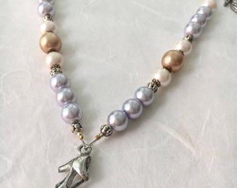 Cinderella Pearl Necklace with Vintage Elements