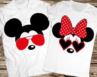 Disney sunglasses couple shirts, Mickey and minnie sunglasses shirt, Disney couple shirt, Disney shirts for couples, Disney shirts