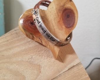 God Grant Me Serenity Prayer | Adjustable Bracelet | Gift | Inspirational Bracelet