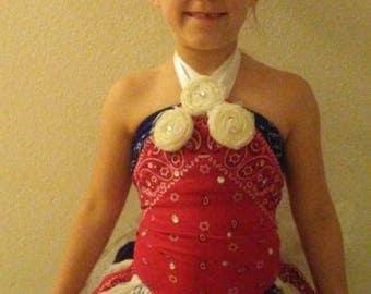 bandana and lace outfit