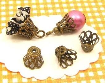 40 AB22 8 * 9mm bronze bead caps