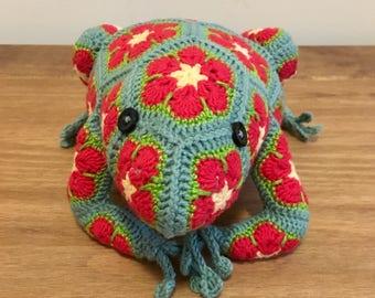 Crochet African Flower Frog