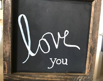 Love You Sign/Fall Sign/Rustic Sign