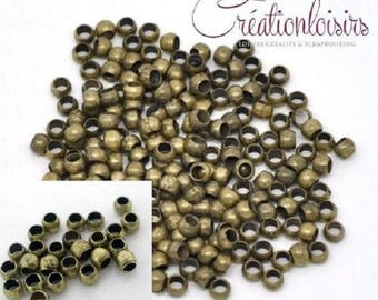 200 crimps - diameter 2 mm - bronze