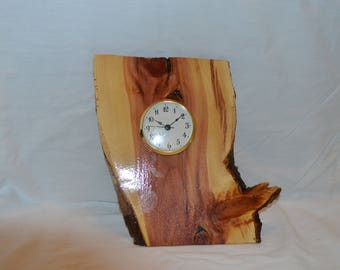 Cedar Slab Clock