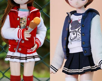 CODENOiR -  Sailor Style Baseball Set BJD clothes msd / Slimi msd / mdd / angel philia / 1/4 BJD