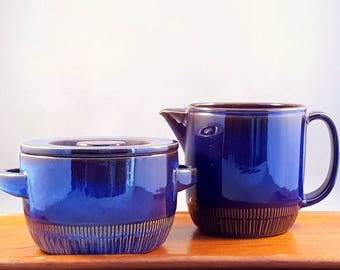 "Vintage Gefle of Sweden pot and pitcher ""Kosmos"" series by Berit Ternell"