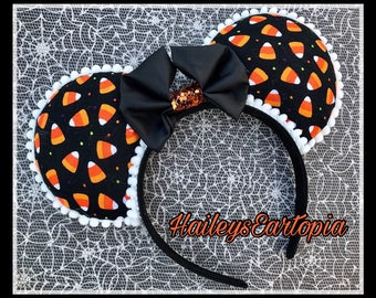 Halloween Mouse Ears, Candy Corn Mouse Ears, ready to ship