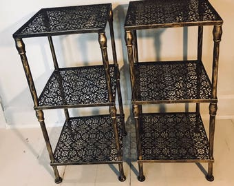 Metal Mesh Funky Side Tables