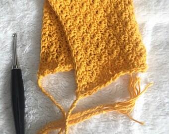 Newborn Bonnet // Baby Bonnet // Cotton Bonnet // Pixie Bonnet // Crochet Bonnet // Baby Photo Prop