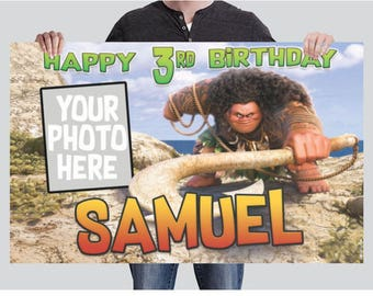 BANNER - MAUI from Moana Birthday Banner