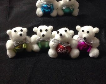 Teddy Bear 6 pack Ornament, Christmas Ornament, Personalized ornament
