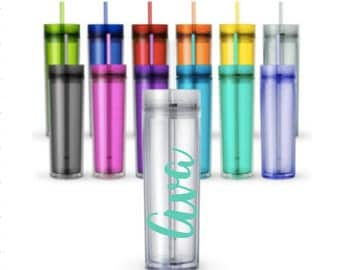 Customized personalized Skinny Tumblers