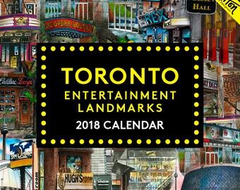 2018 David Crighton Toronto Entertainment Landmarks Art Calendar