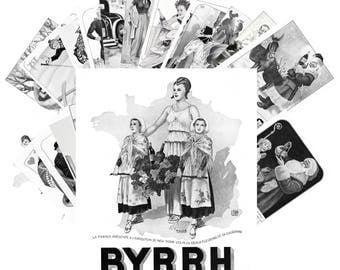 Postcard Pack (24 cards) Byrrh Vintage Alcohol Ads Posters Cartoon CC1108