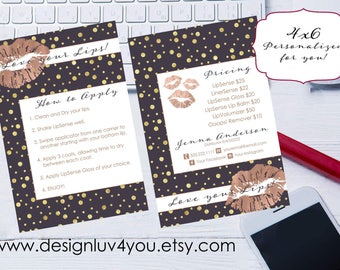 LipSense Card | LipSense Distributor Card | Consultant Application | Business Card | 4x6 Two Sided Card **DIGITAL FILE ONLY**